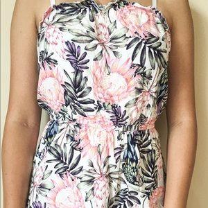 H&M flowy floral off the shoulder romper
